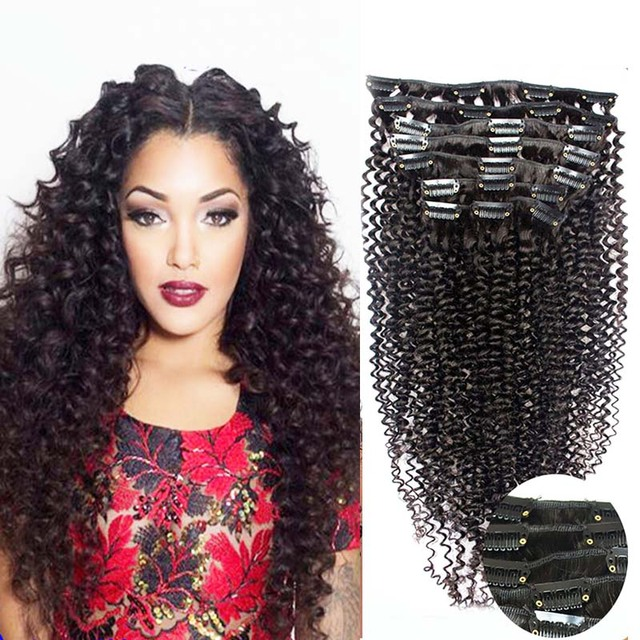 Clip in extensions for african american hair 100g 7pcs natural clip in extensions for african american hair 100g 7pcs natural hair clip extensions 4b 4c kinky pmusecretfo Gallery