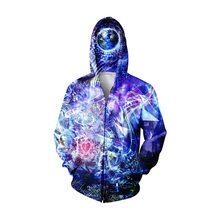2017 männer Und Frauen Herbst Frühling Langarm Fashion Hoodies Sweatshirt 3D Gedruckt Outwear Reißverschluss Charming Lässige Größe S-5XL