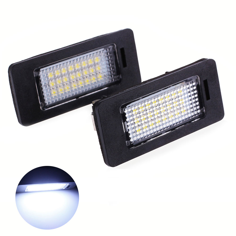 2X LED License Plate Light Error Free For BMW E46 E60 E61 E90 5 Series LED Plate Bolt Light Auto Indicators Lamps Car Styling oslamp 2pcs 4 36w 3 row flood spot beam led work light offroad led driving lamp 12v 24v for truck suv atv 4x4 4wd led car light