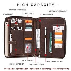 """Image 3 - RetroหนังPadfolioสำหรับiPad Pro 11 2020 10.5 """"Air 3โฟลเดอร์กระเป๋าโทรศัพท์ผู้ถือOrganizerซิปรอบ"""