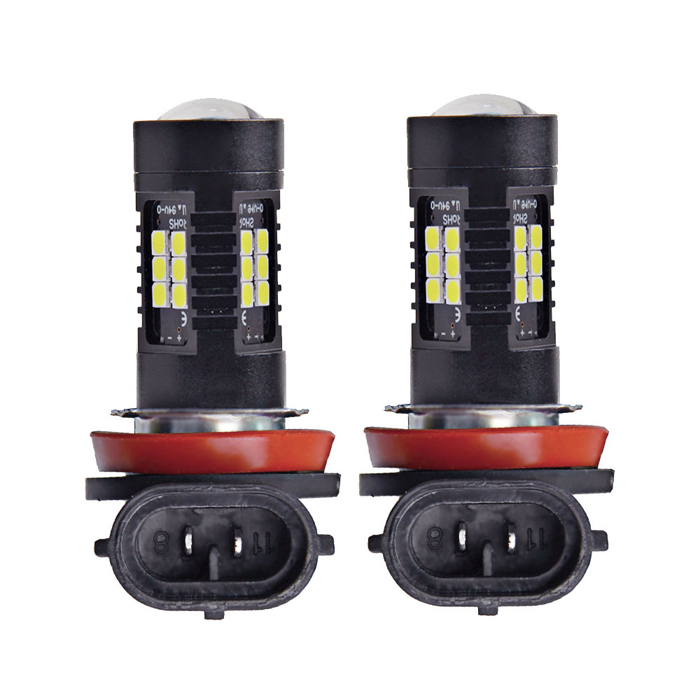 2pcs H11 LED Light 3030 SMD Fog Light Driving DRL 1200LM 6000K Car Light Led 12v White for Auto Bulbs Daytime Running Lights 3 5 inch car universal 1200lm cob led angel eyes fog lamp w lens auto drl driving light daytime running lights white headlight