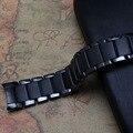 Estilo da marca Pulseira um r1452 extremidade curva 22mm mens relógio Preto de Cerâmica acessórios pulseira preta fivela de implantação nunca desaparecer