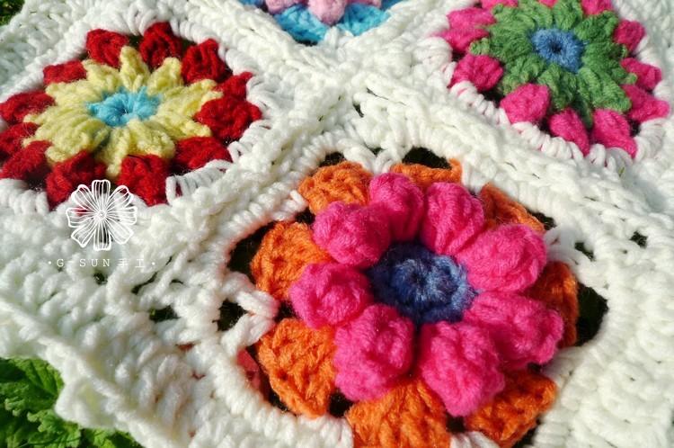 Cordón del ganchillo del algodón de la manera de zakka manta para ...