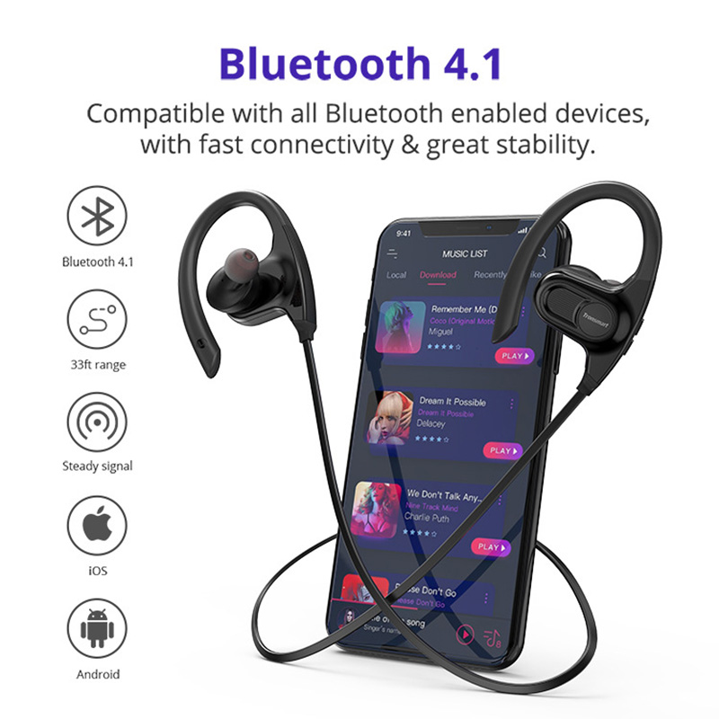 Wireless Bluetooth Headsets smart IPX7 Waterproof deaign Outdoor Sport headphones HIFI Tone quality HD Call Noise reduction in Bluetooth Earphones Headphones from Consumer Electronics