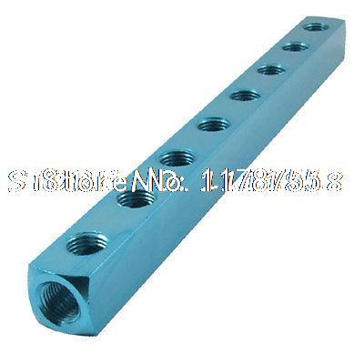 Vacuum Engine Air Pneumatic Cylinder 8 Way Aluminum Manifold Block Splitter air compressor 1 2bsp 2 way hose pipe inline manifold block splitter teal blue