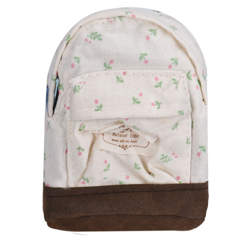 Hot small fresh forest female wind Pastoral Floral mini small school Bag Cute school bags Coin purse student coin Purse