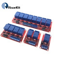 Плата релейного модуля 1, 2, 4, 8 каналов, 5 В, 12 В, 1-полосный Релейный Щит со стандартным триггером высокого и низкого уровня для Arduino