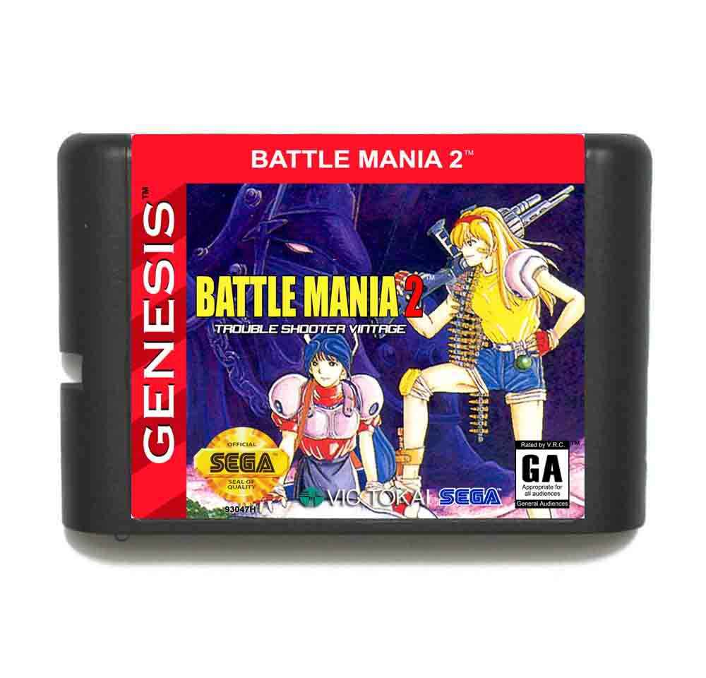 Battle Mania 2 16 bit MD Game Card With Retail Box For Sega Megadrive/Genesis