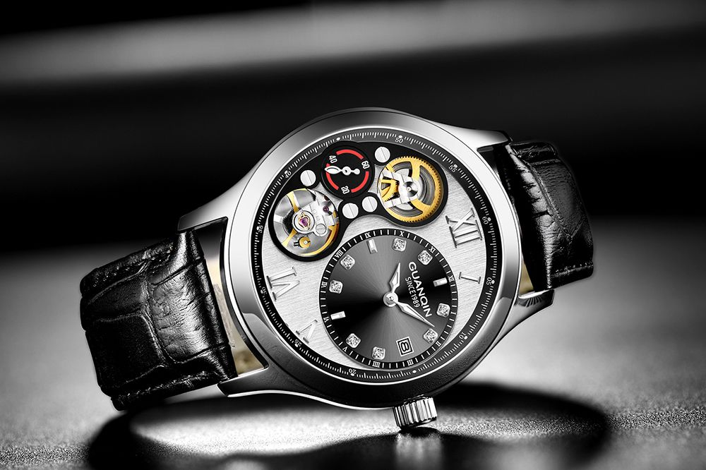 Relógio Automático Tourbillon Pequeno segundo dial Luminous