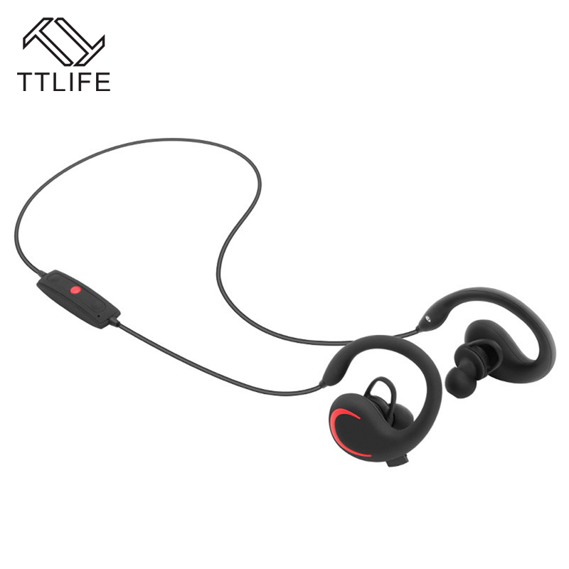 2016 TTLIFE Ear Hook Earphones Noise Cancelling Earbuds Wireless Bluetooth Earphone With Mic For iPhone 6 7 Samsung S6 S7 Phones