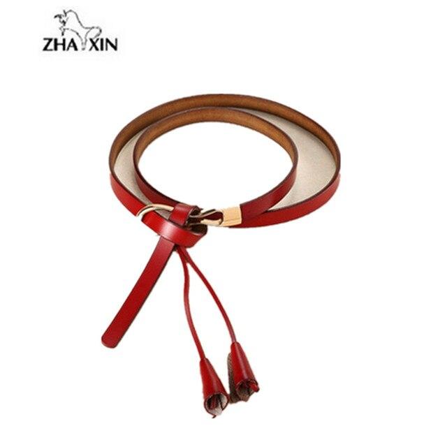 New Arrival Women's Fashion Girls Knot Belts Brand Genuine Leather Famale Straps for Women Dress Sweat Luxury Belt