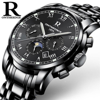 Mens Watches Top Brand Luxury Men Military Sport Wristwatch Automatic Mechanical Watch Moon Phase Luminous Relogio