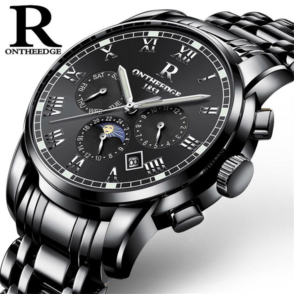 Mens Watches Top Brand Luxury Men Military Sport Wristwatch Automatic Mechanical Watch Moon phase Luminous relogio masculino