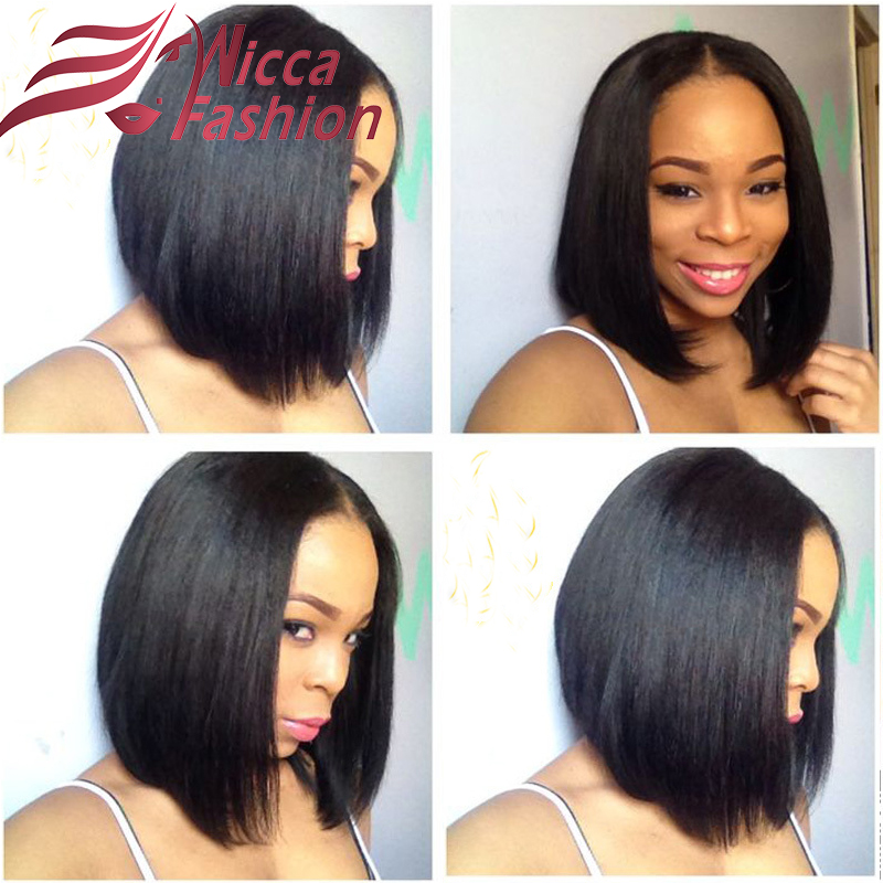 Indian Virgin Hair Lace Front Wigs Short Bob Human Hair Full Lace Wigs For  Black Women Straight Hair Cut Bob Lace Wigs 95cf74f4d