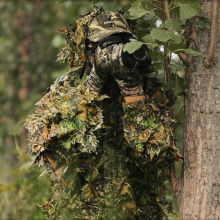 Hot Hunting clothes 3D maple leaf Bionic Ghillie Suits Yowie sniper Camouflage Clothing