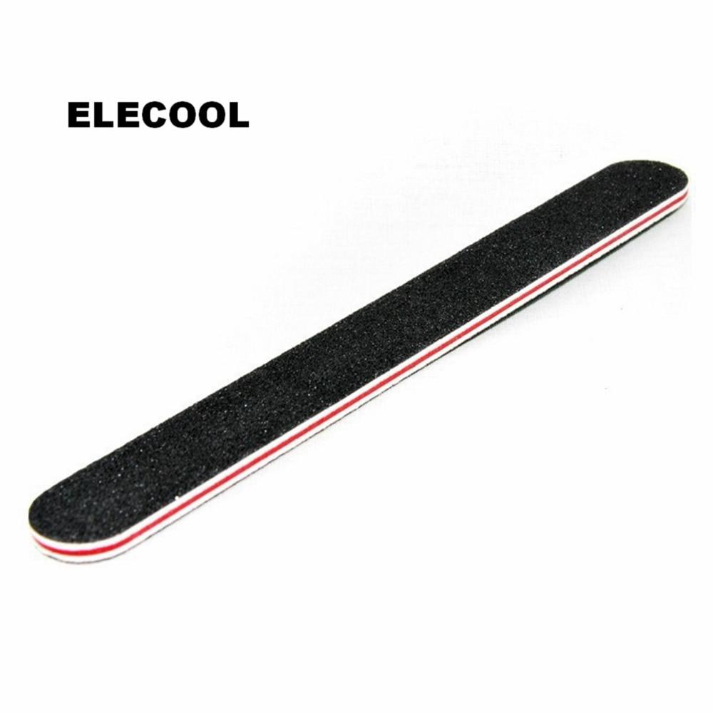 ELECOOL Black Gel UV Set Nail Art Buffer Manicure Nail Sanding File Sandpaper Kit Unha De Gel Manicure Gel Nail Set For Women
