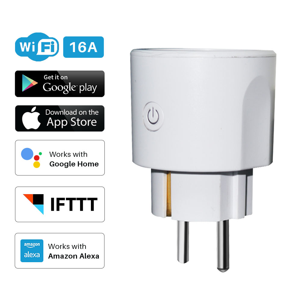 Smart Plug EU WiFi Socket 16A Timing APP Control Via IOS Android Xiaomi Phone Works With Alexa Google Home Mini Voice Control