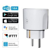 Smart Plug EU WiFi Socket 16A Timing APP Control Via iOS Android Xiaomi Phone Works With Alexa Google Home Mini Voice Control цена 2017