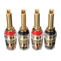 4x Speaker Terminal Binding Post Connectors Gold plated banana plug|terminal plug|terminal connector|connector terminal -