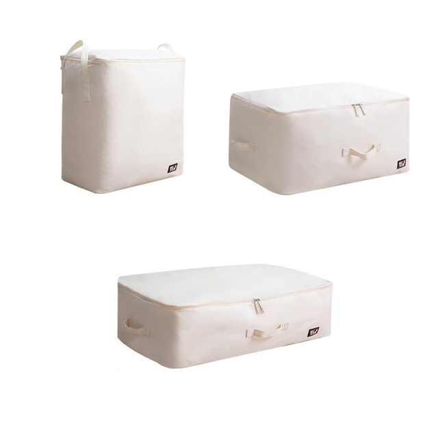 Us 9 5 40 Off Quilt Storage Bags Home Organiser Portable Wardrobe Clothes Storing Folding Closet Bedding Oxford Luggage In