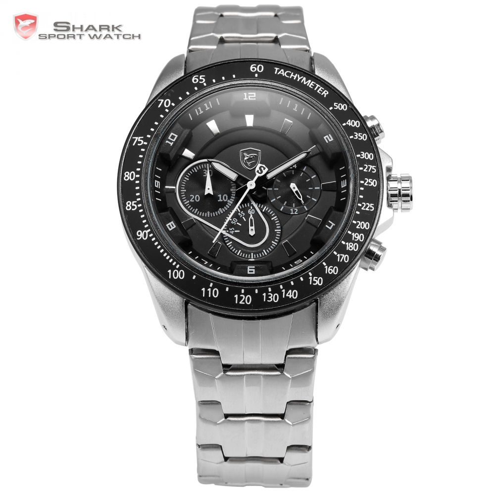 Snapper Shark Sport Watch Luxury Stainless Steel Case Montre Homme Silver Black Analog Military Quartz Men's Wristwatch /SH278 red snapper