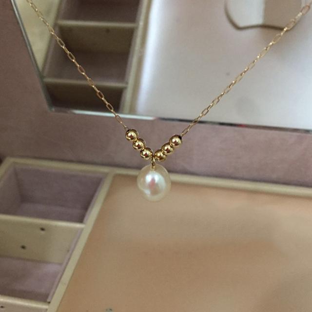 14K Gold Freshwater Pearl Ankle Bracelet