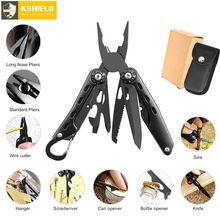 цены KSHIELD Multi Pliers Wire Cutter Stripper Crimping Tool Multifunctional Folding Multitool Knife Camping Survival Hand Tools