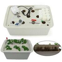 11 Holes US Plug 110 220V Plant Site Hydroponic System Indoor Garden Cabinet Box Grow Kit Bubble Garden Pots Planter Nursery Pot