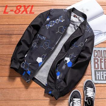 2018 New Styles Men Jacket spring autumn Zipper Business Casual Cozy Coats And Jackets Big Size 8XL 7XL 6XL 5XL  Men Clothing