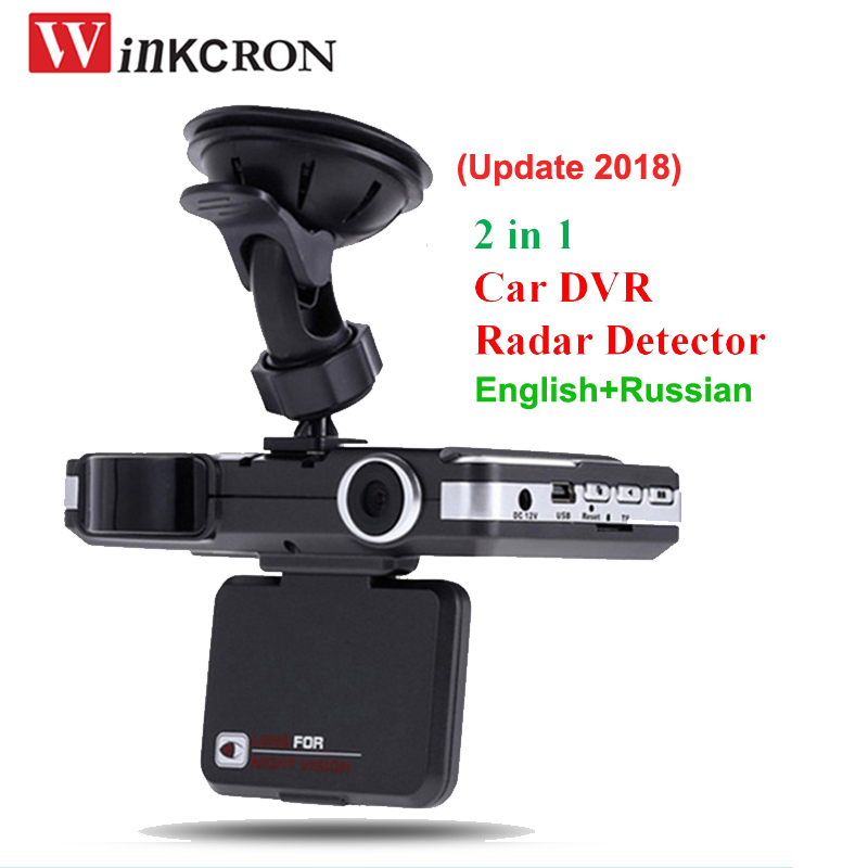 (Updated 2018) 2 in 1 Car DVR Anti Radar Detector 1080P HD Motion Detection G-sensor dvr dash cam with English & Russian version автомобильный видеорегистратор excedd hd 2 7 hd 1080p dvr g