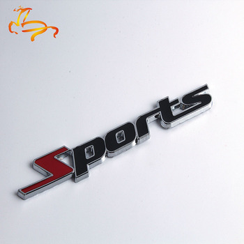 Sport Version Of The Metal Car Labeling Sports Word letter 3D Chrome metal Car Sticker Emblem Badge Decal Auto@11215@@@ image