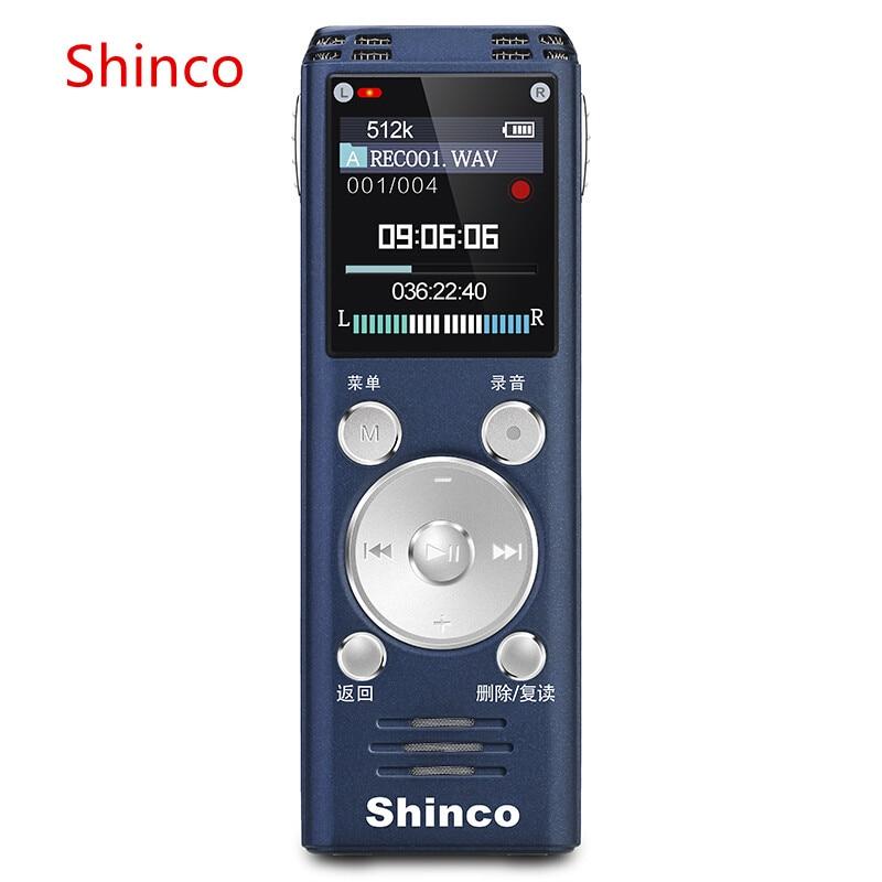 Shinco rv20 16 ГБ Профессиональный цифровой голосовой активации Регистраторы диктофон стерео голос Регистраторы междугородние Запись ручка