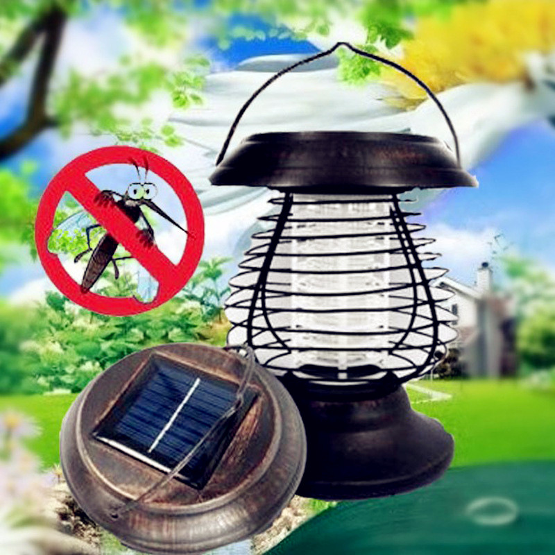Outdoor Solar Powered Portable LED Solar Mosquito Killer Lamp Insect UV Bug Killing Pest Lamp Garden Landscape Wall Light akdsteel solar mosquito killer lamp waterproof light sensor solar powered high quality led mosquito killer lamp decoration