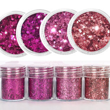 10ML Glitter Iridescent Flakes~0.2-2mm Laser Holo Nail Flake~4color Art Sequins Holographic Flakies Glitters Of Nails YGR64