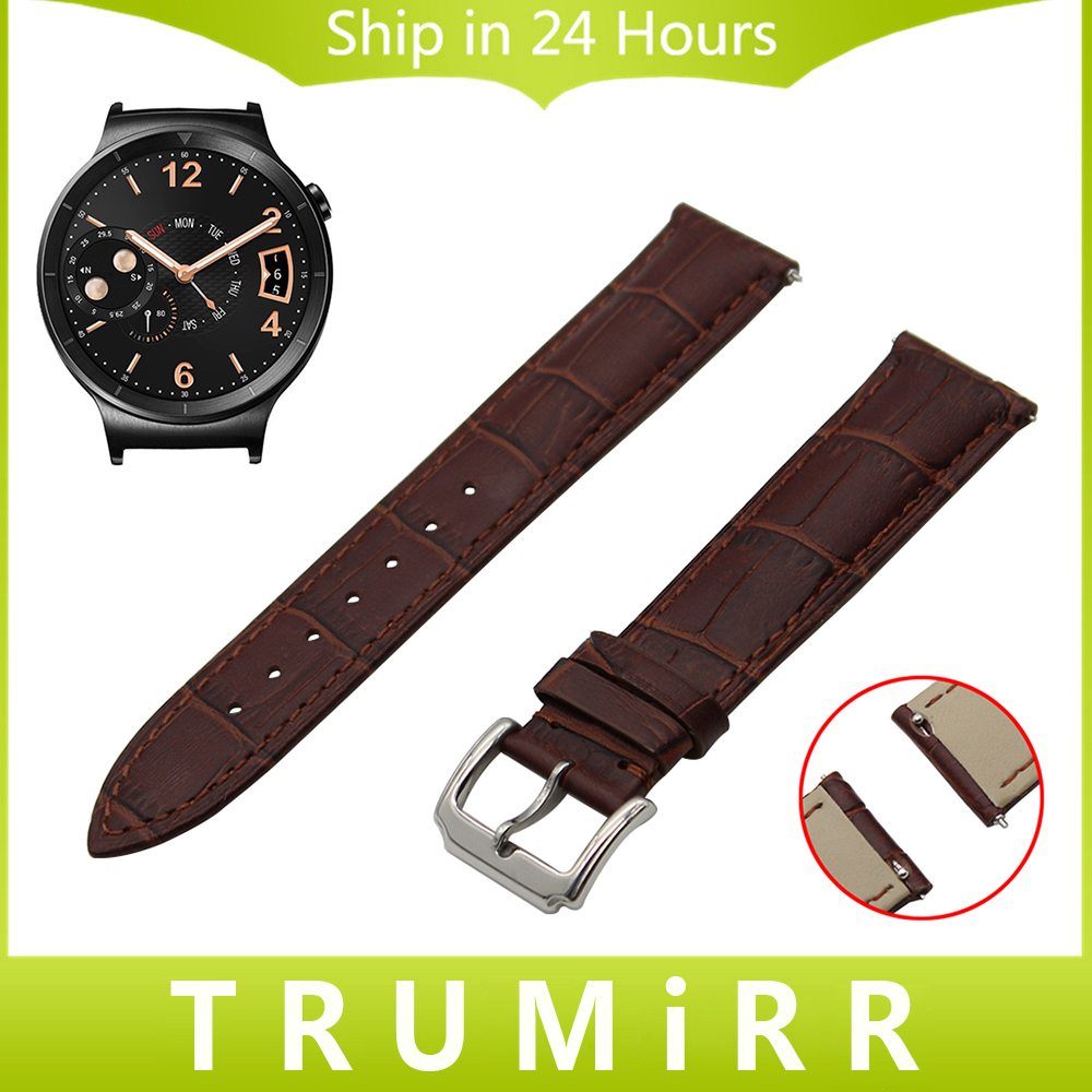 18mm First Layer Genuine Leather Watchband Quick Release Strap for Huawei Watch Asus ZenWatch 2 Women WI502Q Wrist Band Bracelet top layer cowhide genuine leather watchband for swatch men women watch band wrist strap replacement belt bracelet 17mm 19mm 20mm