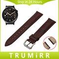18mm primera capa de cuero genuino correa de reloj de correa de liberación rápida para huawei watch asus zenwatch 2 mujeres wi502q wrist band pulsera