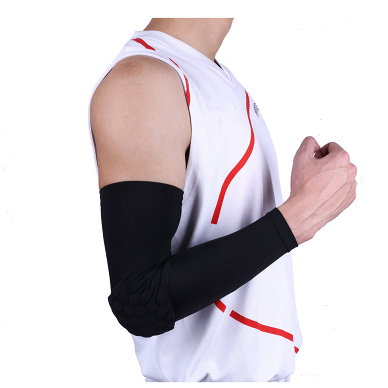 Men's Accessories 2017 Hot Sell Running Man Sports Arm Sleeve Cycling Compression Arm Warmers Elbow Protector Pads Support For Men