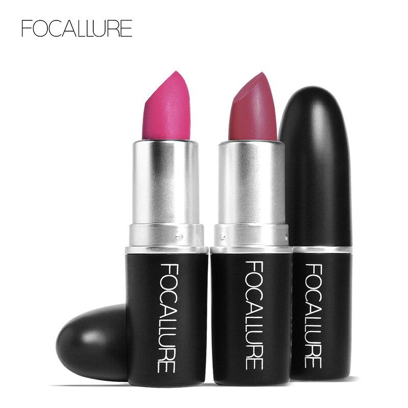 FOCALLURE Matte Lipstick Waterproof Easy to Wear Velvet Makeup Beauty Women Lips Nude Lipstick Batom Ladies Gift Cosmetic