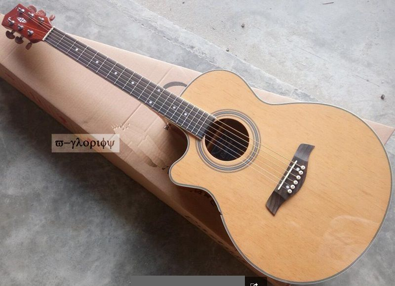 left hand electro acoustic guitar free shipping vegas left hand natural color acoustic electric guitar free bag free shipping