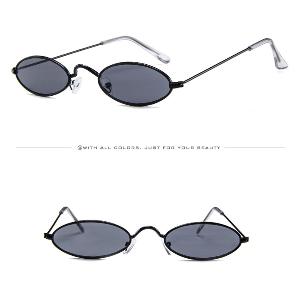 3b8bc54015 Fashion Sexy Unisex sunglasses 2018 Retro Small Oval Sunglasses ...