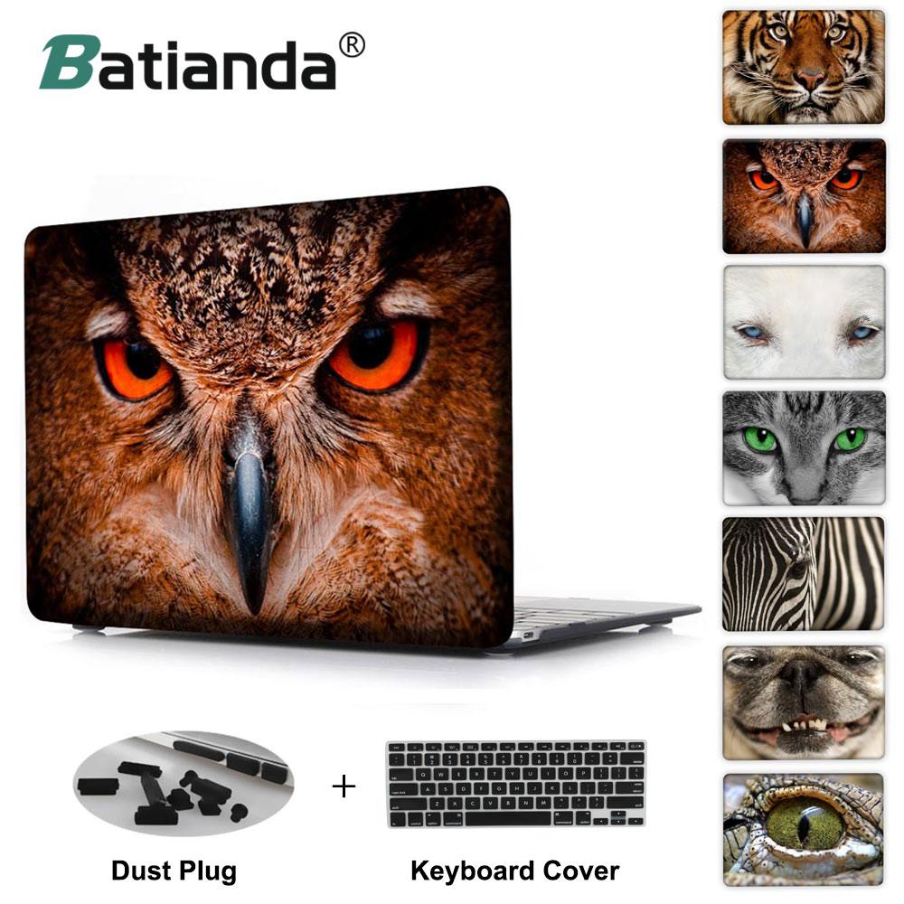 Lica životinja Lijepa sova zebra tigar mačka pas ispis Slučaj za - Pribor za prijenosna računala