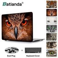 Tier gesichts close augen Eule zebra tiger cat Fall Für MacBook Pro 13 Air 13 11 Pro 15 Retina 12 zoll laptop abdeckung shell