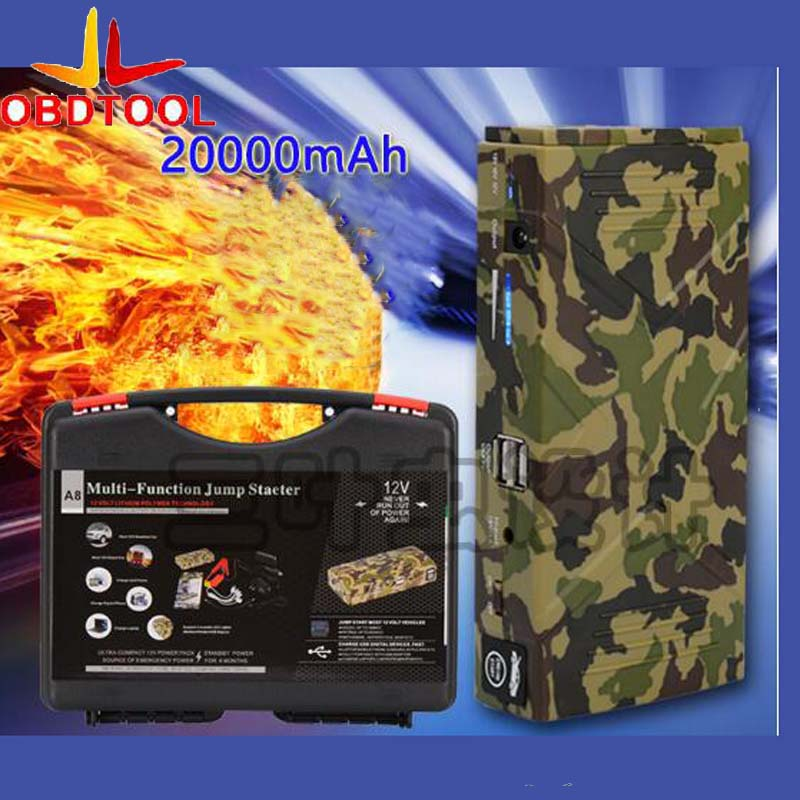 New Camouflage Color 12V Portable Mini Jump Starter 20000mAh Car Jumper Booster Power Bank for Petrol and Diesel new 68800mah car jump starter mini