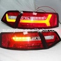 Для Audi A6L 2009 2012 сзади задние светодиодные света SN красный белый