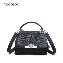 Fashion Simple Alligator Crocodile Leather Mini Small Women Lock Crossbody bag Messenger Shoulder Bag Sling Purse Lady Handbag