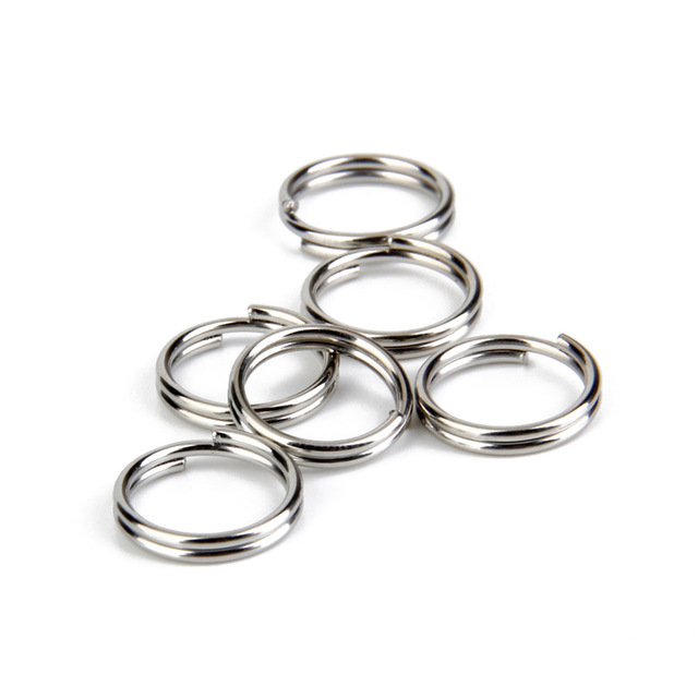 Phenovo 100pcs Newest Arrival Durable Split Key Rings with 1.2 x 12mm Great for Crafts Extra Keys  -Silver
