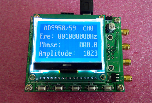 AD9958 AD9959 four channel DDS module STM32 signal source learning module V3