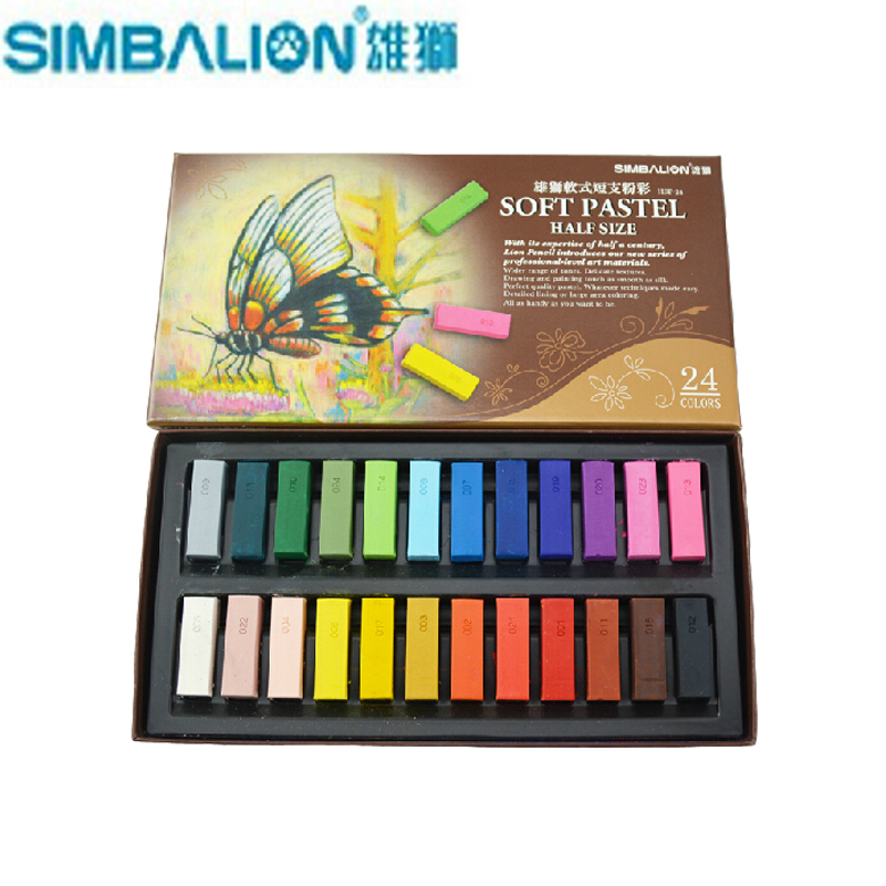 24 48 colorsset taiwan simbalion soft pastel painting crayons art