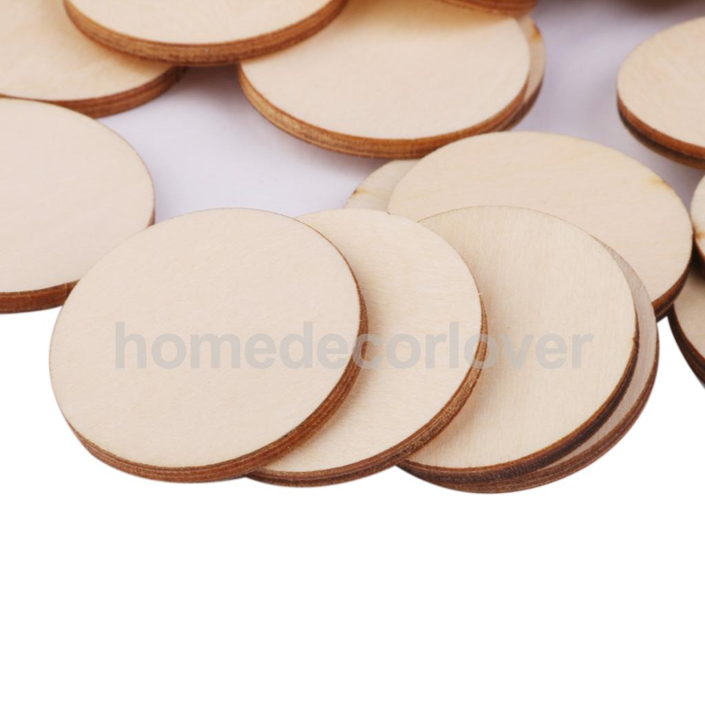 Wooden circles for crafts - 50x Unfinished Round Circle Wooden Embellishments For Cardmaking Diy 30x3mm China Mainland