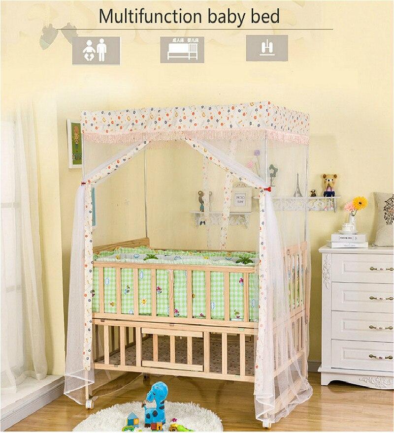 Goede Multifunctionele Grenen Tweeling Baby Bedjes Geen geschilderd OS-81